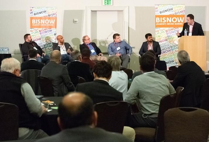 PayPal's Shawn Tugwell, DPR Construction's Tejo Pydipati, Arup's Bruce Myatt, EPI Mission Critical's Jason Mayer, Google's Mark Bhuyan and Ascent's Drew Osborn, who moderated