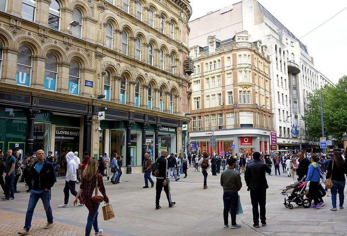 New Street Birmingham shops retail high street