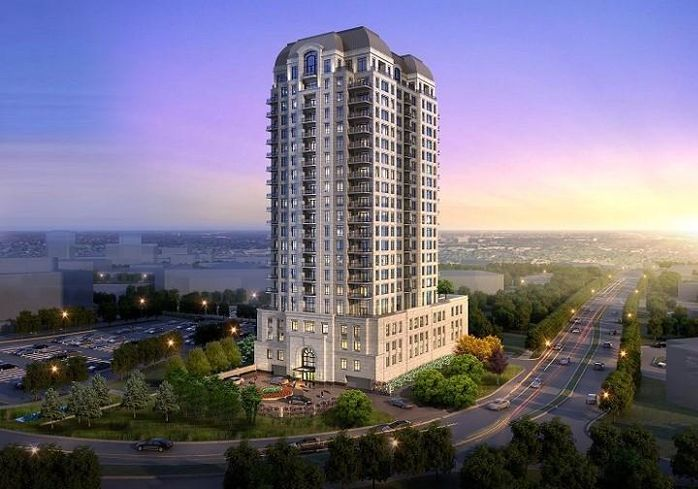 The Butler, a 22-story condo development in Oak Brook.