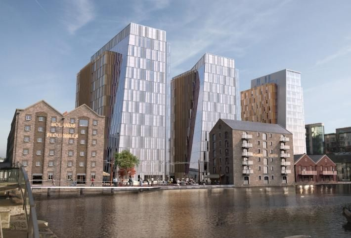 Artist's rendering of Bolands Quay