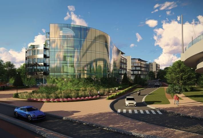 Artist's rendering of One South County in Leopardstown