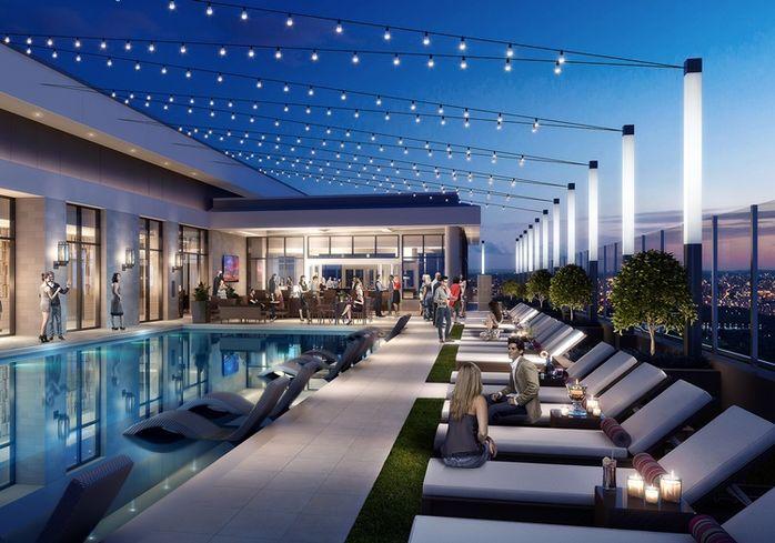 Lennar LMC rooftop pool