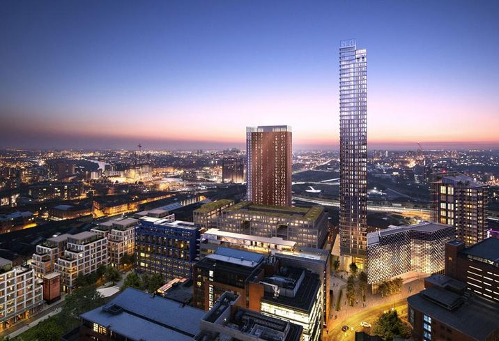 Allied London St john's development Manchester tower plan