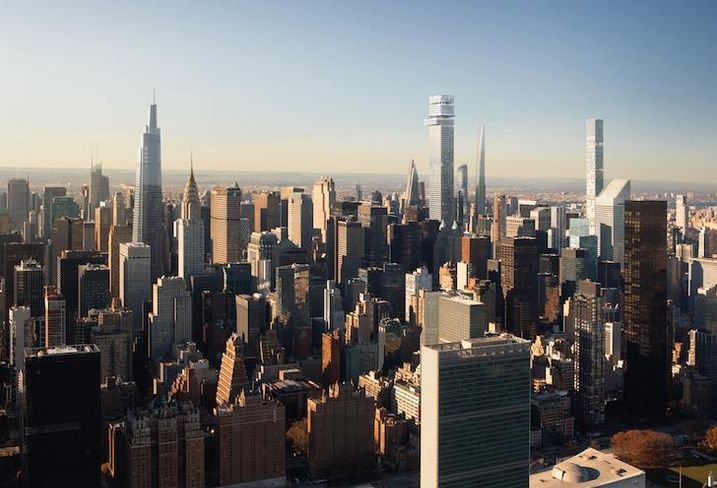 A rendering of Tower Fifth, the proposed supertall in Midtown Manhattan from Harry Macklowe