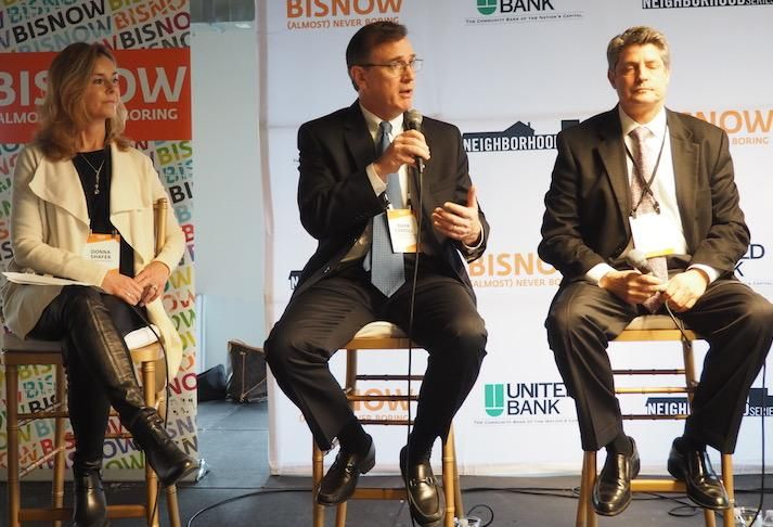 Cityline's Donna Shafer, Skanska's Mark Carroll and Lerner's Jim Policaro