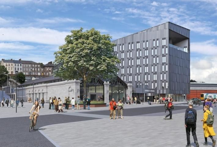 Artist's rendering of The Dean, Cork, part of the Horgan's Quay development