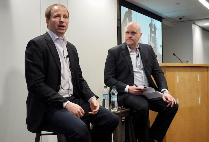 SAIC's Nathan Rogers and Traction Technology Partners' Brian Watson