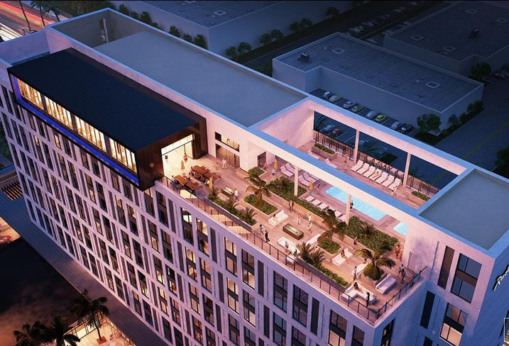 Rendering of the Radisson Blu, a 12-story 326-key upscale hotel at 1601 S. Anaheim Blvd. in Anaheim