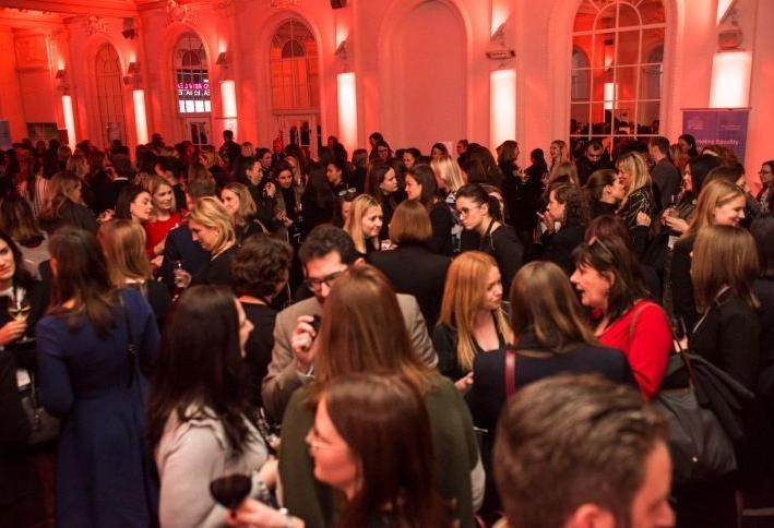 Networking at Bisnow's Women Leading Real Estate event in London