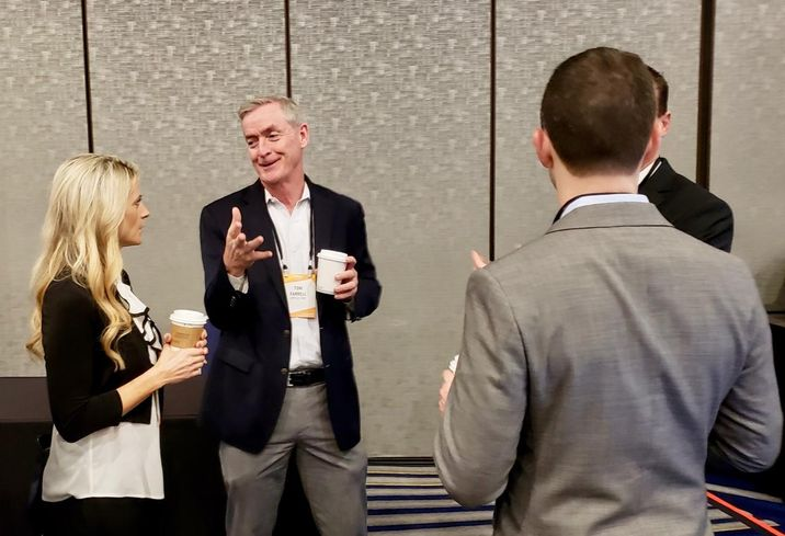 People network at Bisnow's Orange County Construction and Development event Feb. 12 at the Irvine Marriott in Irvine