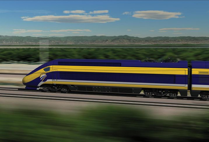 Rendering of California's high speed rail
