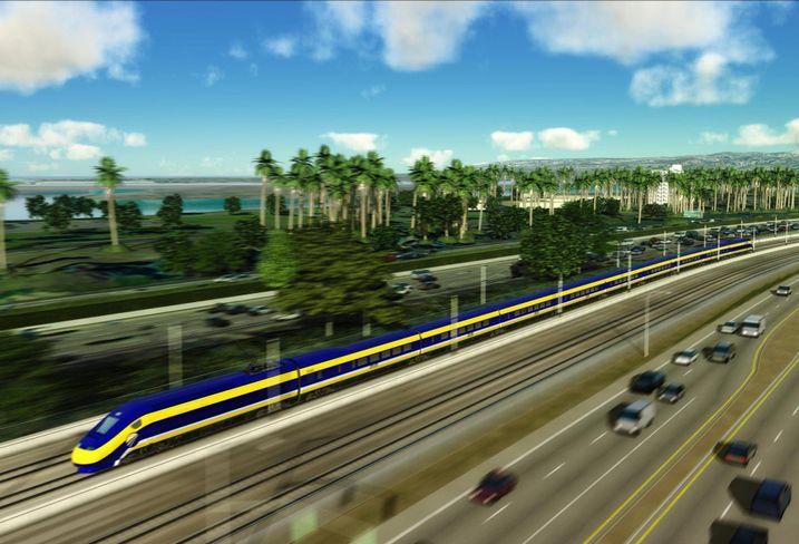 Rendering of California's high speed rail