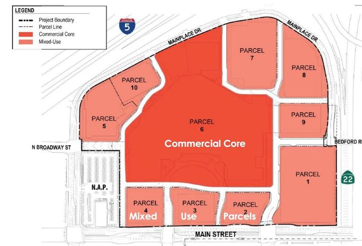 Centennial Real Estate Co. is proposing a $300M transformation of MainPlace Mall Santa Ana