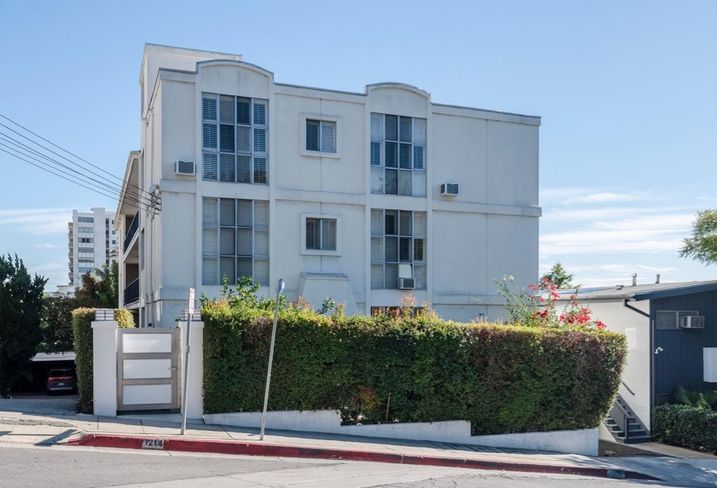 A 12-unit apartment at 1214 N. Clark St. in West Hollywood