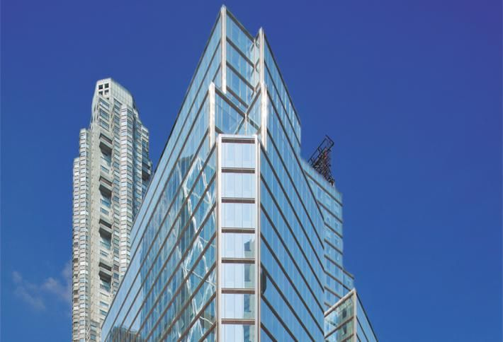 3 Columbus Circle, an office building overlooking Central Park in Manhattan