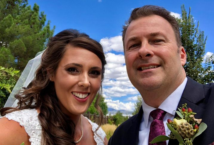 Meridian CEO John Pollock with his daughter at her wedding
