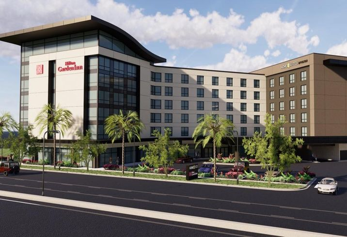 RD Olson recently broke ground on a dual branded - Hilton Garden Inn and Home2 Suites hotel in Anaheim's Resort District.