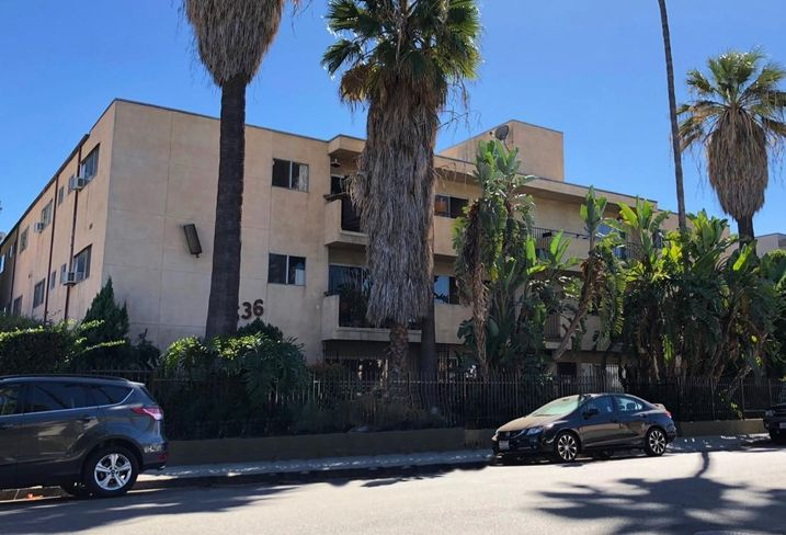 A 24-unit apartment building at 6536 La Mirada Ave. in West Hollywood.