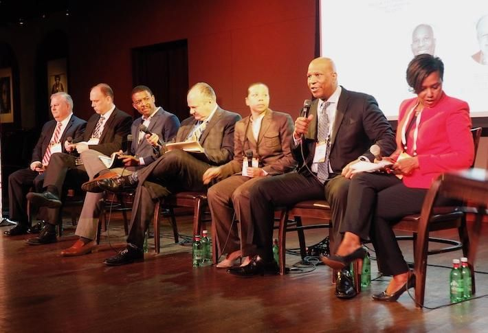 United Bank's Joe LeMense, Jubilee Housing's Jim Knight, JBG Smith's AJ Jackson, Bonstra| Haresign Architects' Bill Bonstra, Nixon Peabody's Patrice Harris, D.C. Housing Finance Agency's Todd Lee and CohnReznick's Winell Belfonte