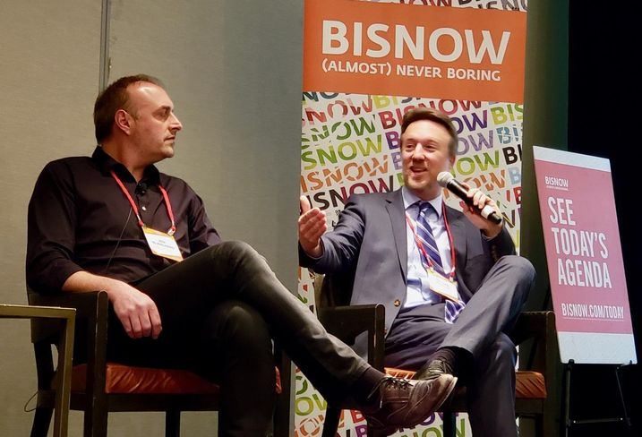 BLVD Hospitality's Jon Blanchard and Kruger Development's Partner Nathan Kruger at Bisnow's Los Angeles Hotel Summit at the Omni Los Angeles Hotel in downtown Los Angeles