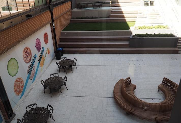 The outdoor courtyard area at Ballston Quarter