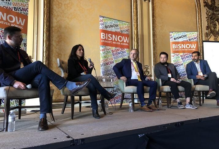 Cushman & Wakefield's Greg Fogg, Google's Kamala Subbarayan, Microdesk's Mike DeLacey, Gensler's Adam Nakagoshi and Thornton Tomasetti's Hassan Ally