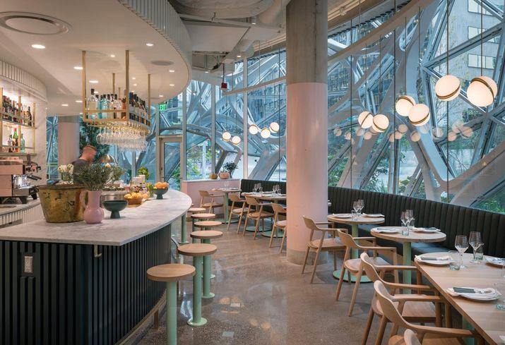 Italian Restaurant In Amazon's Spheres Nominated For James Beard Design Award