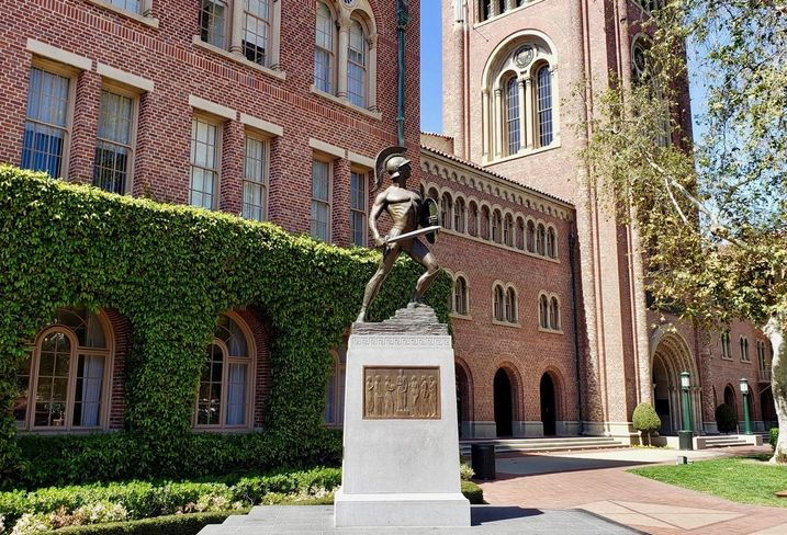 The Tommy Trojan statue at USC