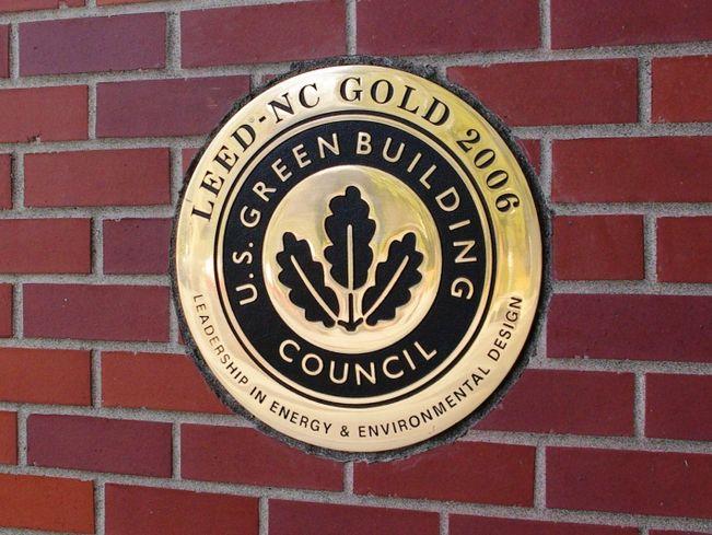 Hillsboro_Civic_Center_LEED_Gold_plaque