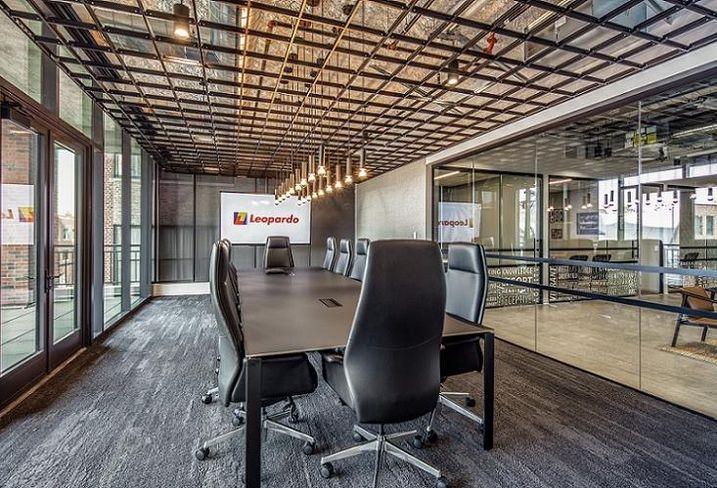 Leopardo's conference room at 210 North Carpenter