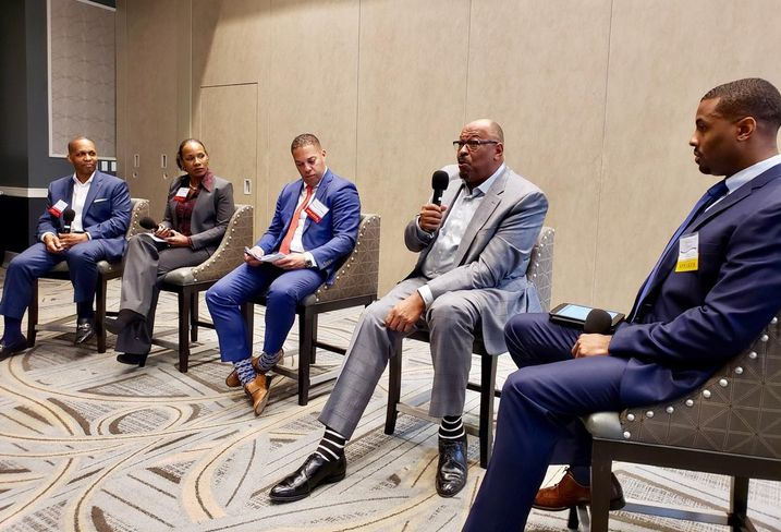 CBRE Senior Vice President Derrick Moore, Archere Investment Management Principal Lynn King-Tolliver, Avanath Capital CEO and Founder Daryl Carter, Clarion Partners Managing Director Khalif Edwards and Cushman & Wakefield Valuation & Advisory Michael Tidwell