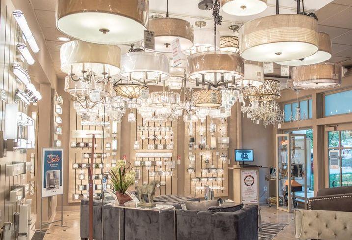 Interior of Lamps Plus