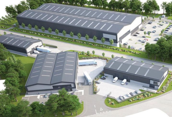 Carrington industrial warehouse site manchester Carrington Gateway, a 212,129 SF development of six units by HIMOR on a 19-acre site at Carrington, Manchester, due for completion in the first quarter of 2020.