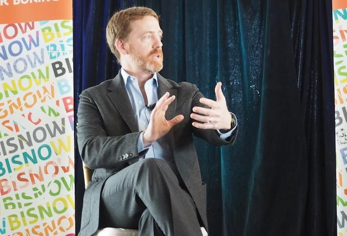 JBG Smith CEO Matt Kelly speaking at Bisnow's Amazon HQ2-Apalooza in February