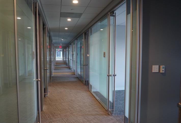 A hallway of offices in the DOJ's Constitution Square 4 space