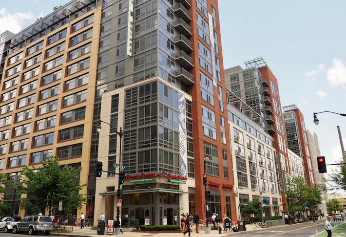 The Harris Teeter-anchored Flats 130 apartment building