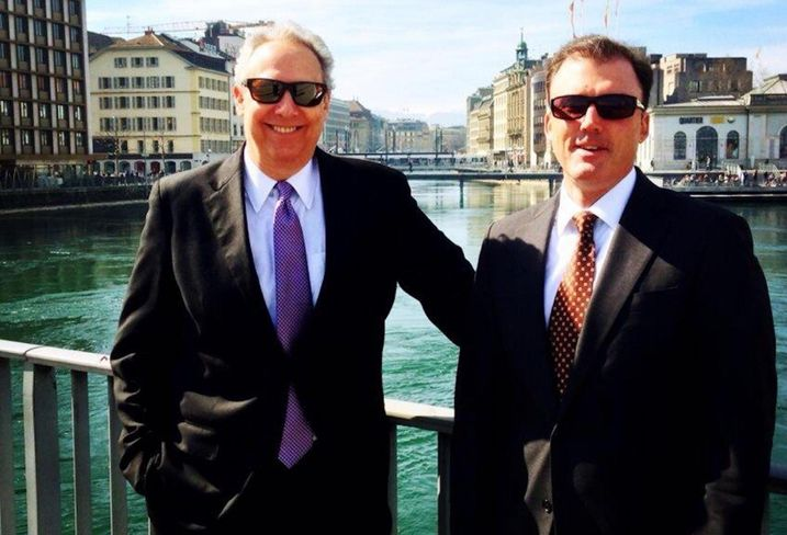 Pebblebrook CEO Jon Bortz and CFO Raymond Martz in Geneva in 2014