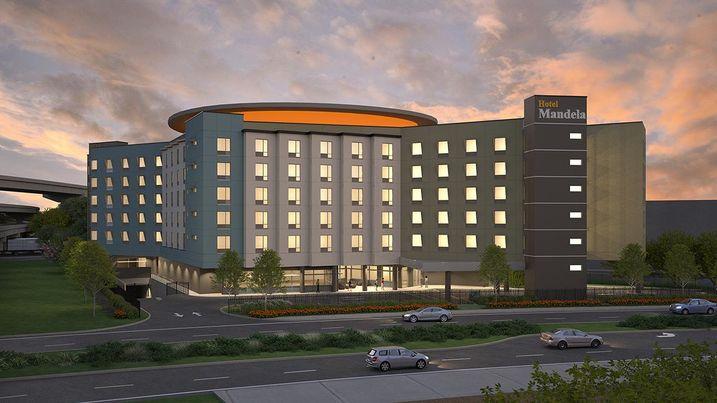 Hotel Mandela, a six-story, 222-room proposed hotel off of Mandela Parkway in Oakland