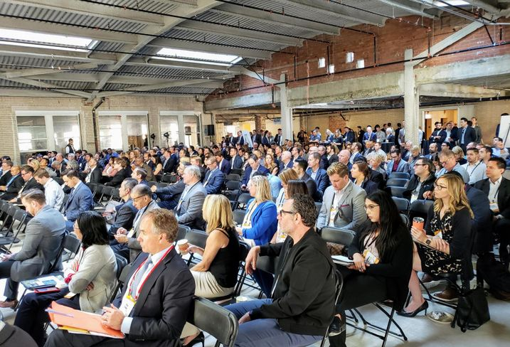 More than 450 people attended Bisnow's Los Angeles State of the Market at the Trust Building in downtown Los Angeles.