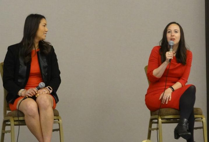 Bay Area Power Women Kristina Owyoung Vinson and Sara Neff in a panel discussion