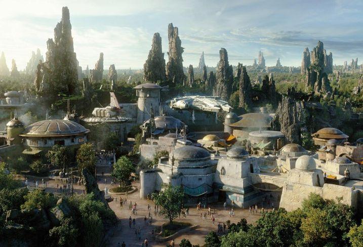 Star Wars: Galaxy's Edge at Disneyland Park in Anaheim, California.