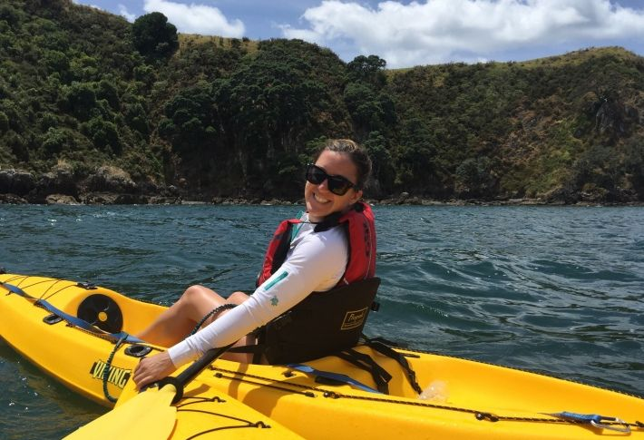 Tara Hovey Kayaking in New Zealand