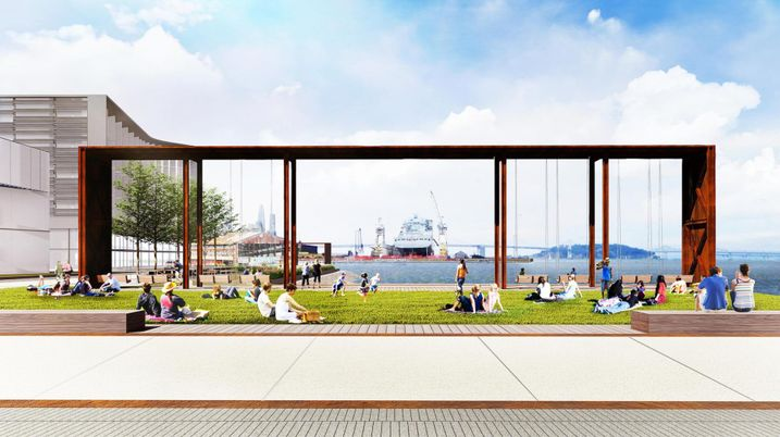 Rendering of Craneway Pavilion at Pier 70