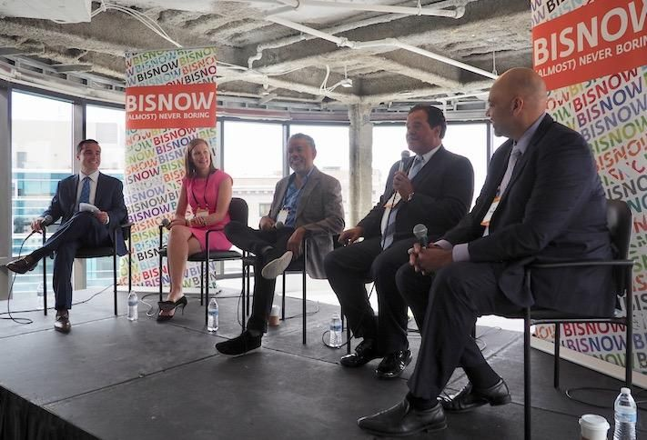 United Bank's Ross Draber, Charger Ventures' Jessie Henry, Neighborhood Development Co.'s Adrian Washington, Jarvis Commercial Real Estate's Ernie Jarvis and The Menkiti Group's Bo Menkiti