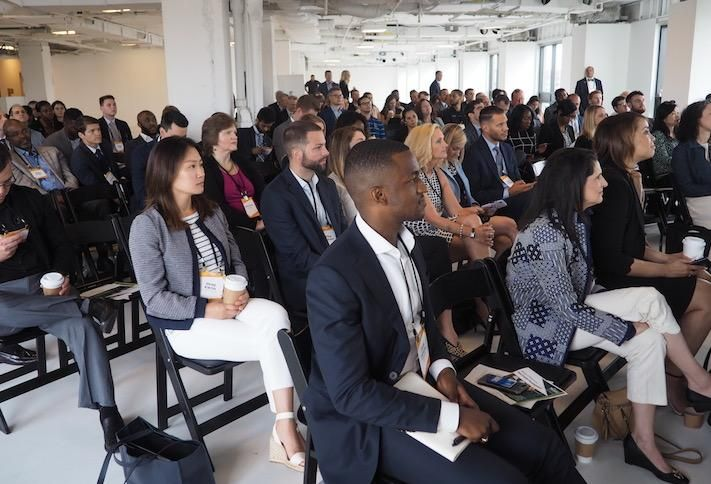 The crowd at Bisnow's How To Make It In Commercial Real Estate event, hosted at Blake Real Estate's 1425 K St. NW