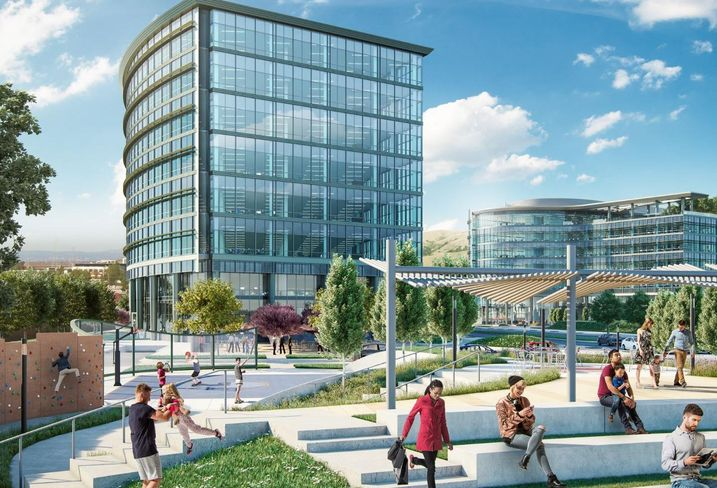 Station District Woodstock Development Rendering Bay Area Life Sciences