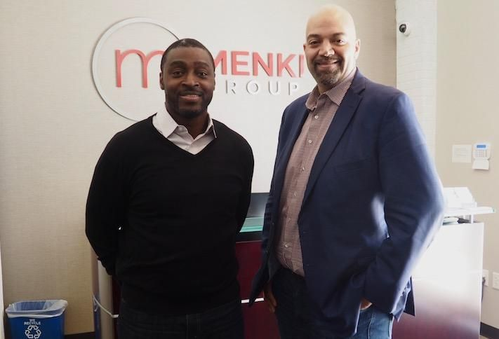 Menkiti Group Managing Director Emeka Moneme and CEO Bo Menkiti