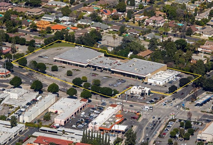 A former shopping center at 17 Las Tunas Drive in Arcadia