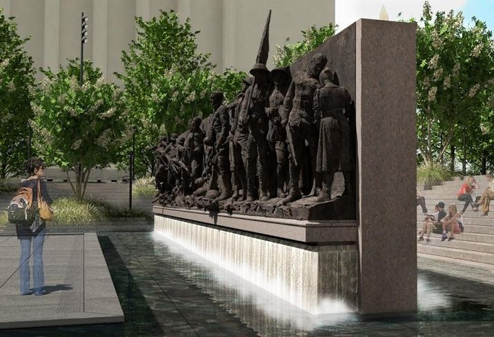 A rendering of the sculpture planned for the National World War I Memorial in Washington, D.C.