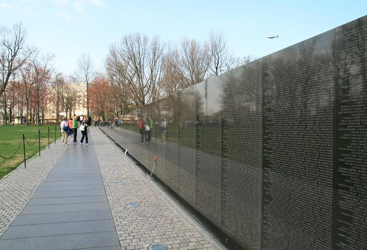 The Vietnam War Memorial on the National Mall in Washington, D.C.